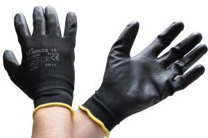 Rukavice WINGS BLACK nylonové (velikost 10 (XL)   černé)  4baacb53d5